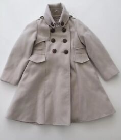 Next - Girls Military Style Swing Coat 3-4yrs
