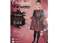 Girls Halloween Witch Costume 5-7year
