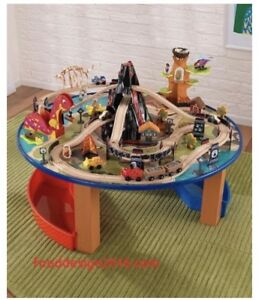 Kid craft train table