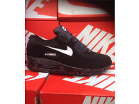 Black with White Dots Nike Trainers Brand New
