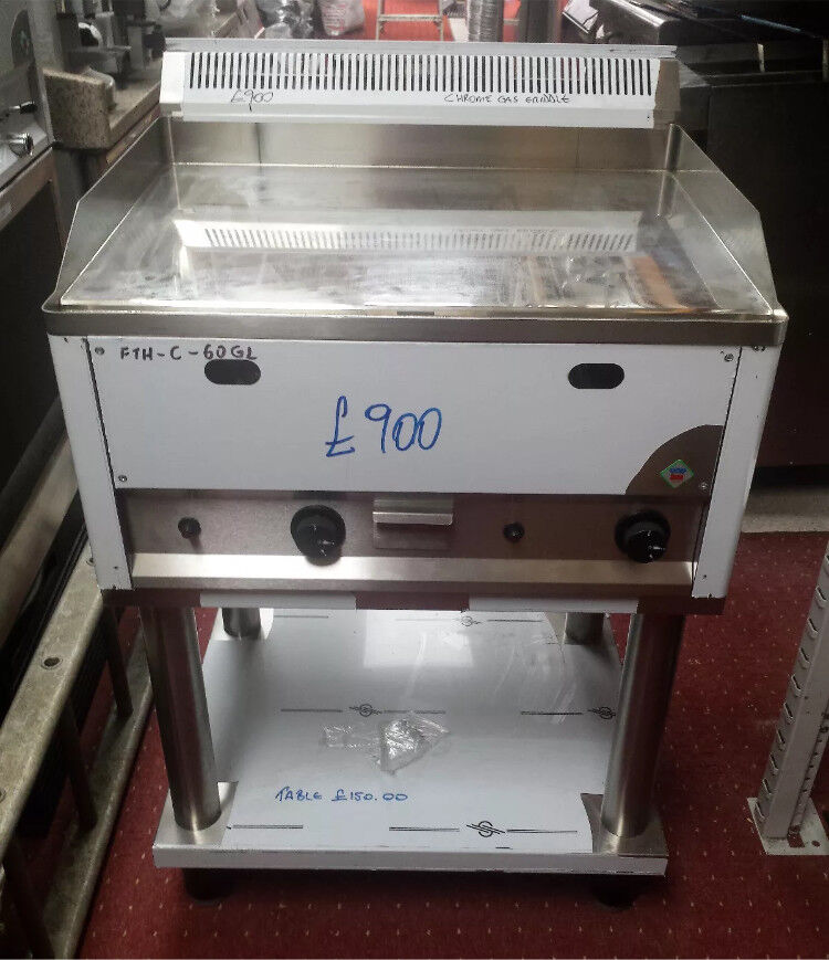 RM GASTRO GRIDDLE CHROMTOP 2 burner Nat Gas With Stand model FTH-C-60 GL gas frytop BRAND NEW
