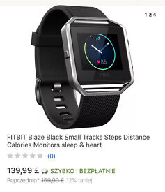 NEW FitBit Blaze Black / Small smartwatch Heart Rate never been used!!