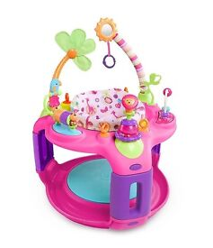 Bright Starts Pretty In Pink Sweet Safari Bounce-A-Round Activity Centre Baby Bouncer