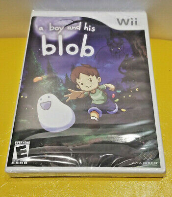 A BOY AND HIS BLOB Nintendo Wii BRAND NEW & SEALED Puzzle Game Y-Fold 2008