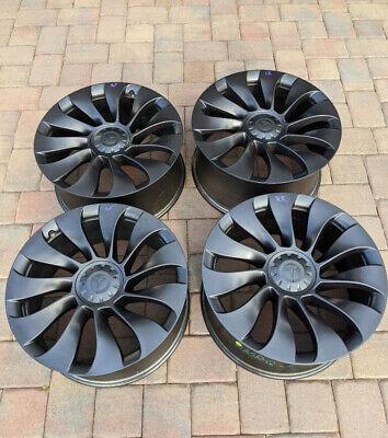 """4 2021 Factory Tesla Model Y Performance 21"""" OEM Wheels Uberturbine Rims"""