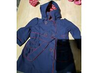 Marks and Spencer girls coat/ mac 12-18 months