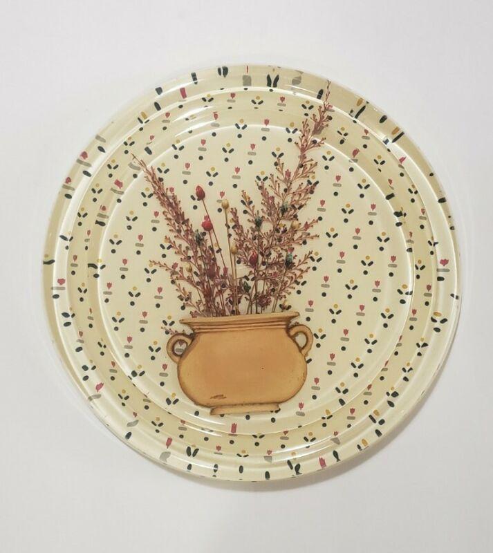 """■L@@K■ 7¾"""" Vintage LUCITE TRIVET Dried Flowers in Vase EXCELLENT SHAPE!"""
