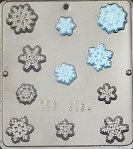 Snowflake Pieces FROZEN Movie Party Chocolate Candy Mold Christmas 2164 NEW