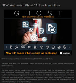 Autowatch Ghost Immobiliser system Glasgow / Edinburgh / Dundee / Aberdeen / call