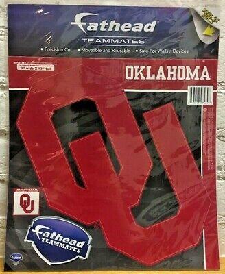 - Oklahoma Sooners NCAA Fathead Teammates Peel & Stick Wall Decal Vinyl Graphics