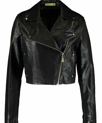 Versace Jeans women's synthetic leather biker jacket