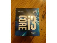new sealed i3 6100 intel cpu, motherboard and ram