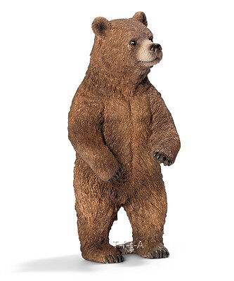 FREE SHIPPING | Schleich 14686 Female Grizzly Bear Toy Figurine - New in Package