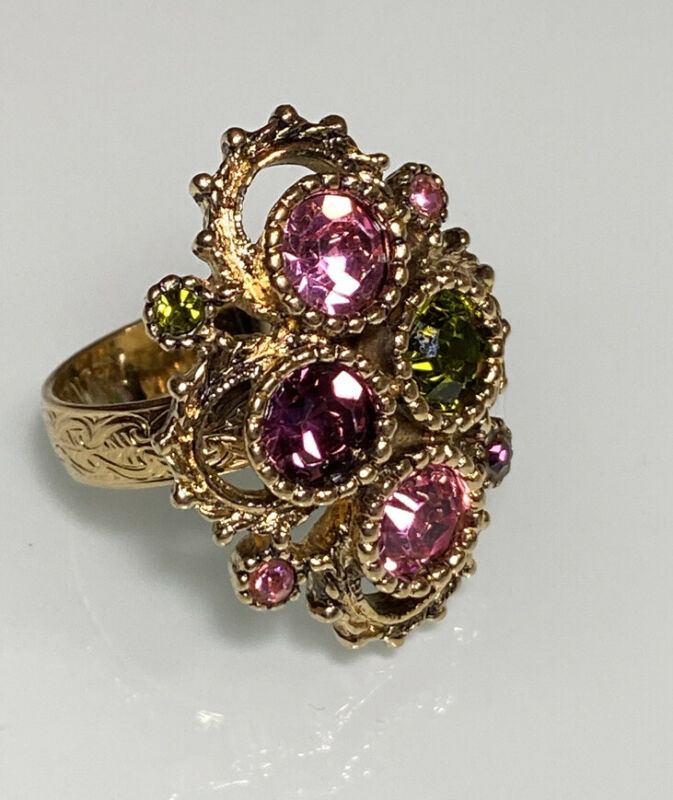 Vintage Sarah Coventry  Ring With Austrian Crystals
