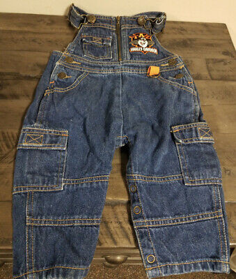 Harley Davidson W. Bros.Taz Tazmanian Devil 12 Month Childs Denim Overall Pants