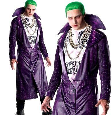 Adult DELUXE THE JOKER Suicide Squad DC Fancy Dress Mens Halloween Official Kit (Adult Joker)