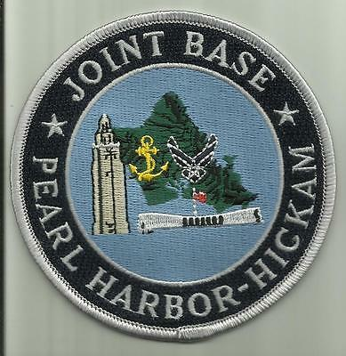 "PEARL HARBOR HICKAM AFB JOINT BASE USAF US.NAVY PATCH 4 "" HAWAII AIRCRAFT PILOT"