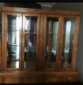 Real Oak hutch for sale!!