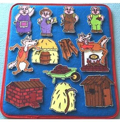 Three Little Pigs   Felt / Flannel Board Set  3 Little Pigs children's story - Felt Boards