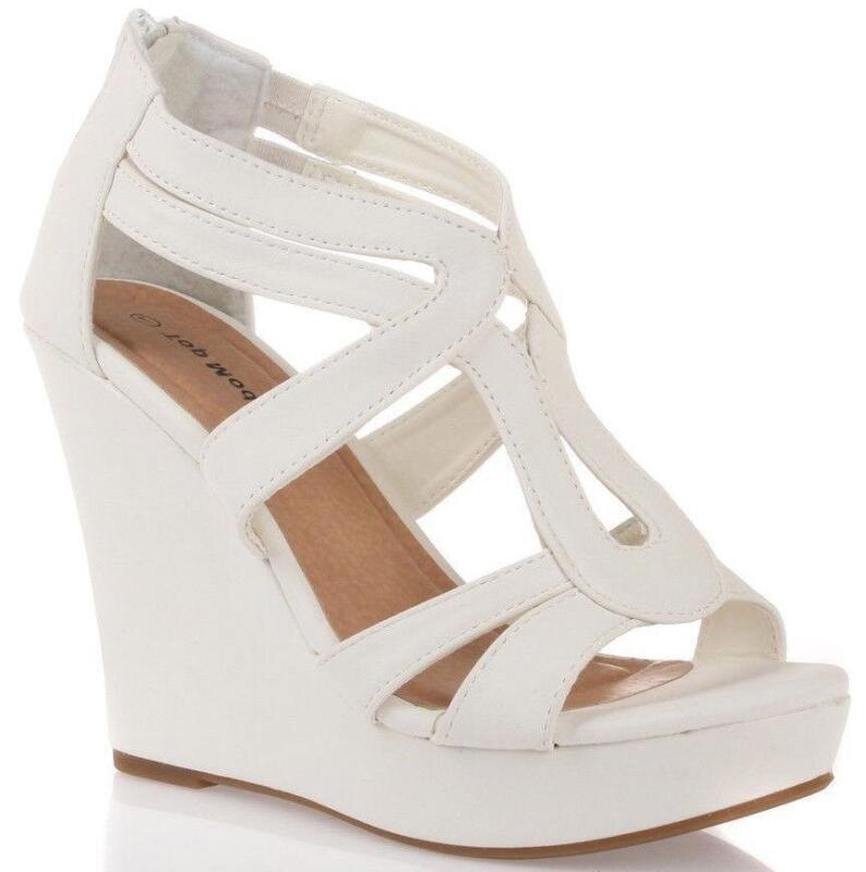 White Platform Sandals | eBay