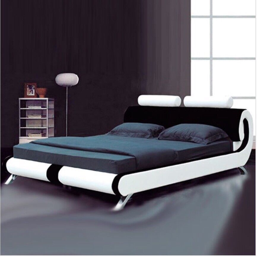 Italian Leather King Size Bed
