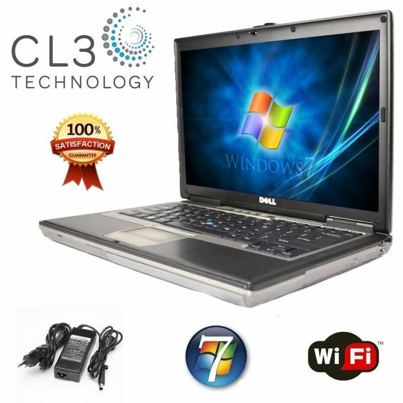 Dell Laptop Latitude Core Duo WIFI Windows 7 Pro DVD/CDRW Notebook