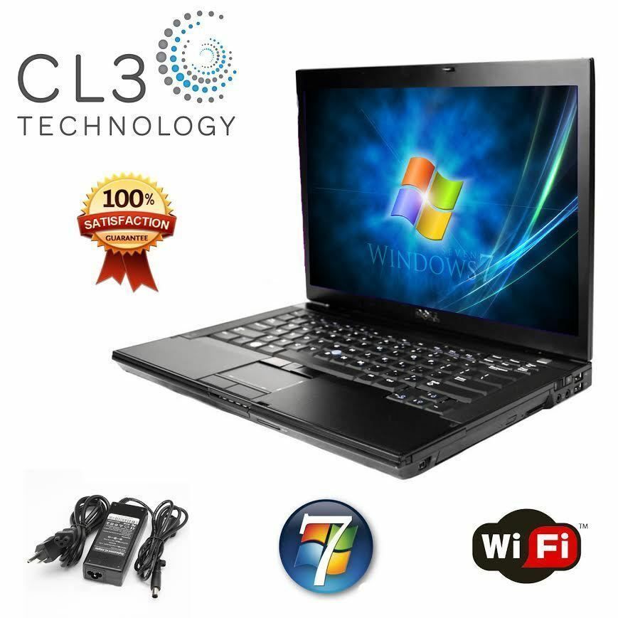 Laptop Windows - DELL Latitude Laptop Computer Windows 7 Pro Core 2 Duo DVD WiFi Notebook + HD
