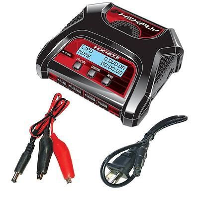 Redcat RC AC/DC LiPo LiFe Battery Charger HX-403 Dual Port 2s, 3s, 4s BEST