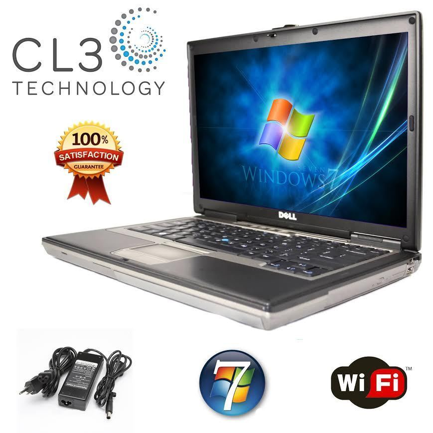 DELL Latitude Laptop Computer Windows Core 2 Duo 80GB DVD WiFi Notebook +4GB