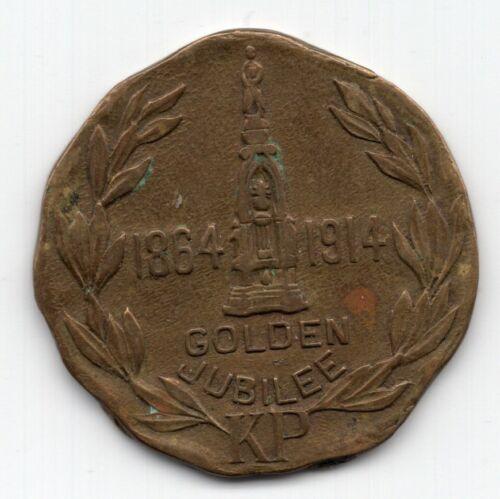 1864 - 1914 Knights of Pythias FCB KP Golden Jubilee Medal