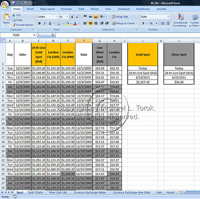 Bullion Investments: Excel Tool for Buying Gold/Silver
