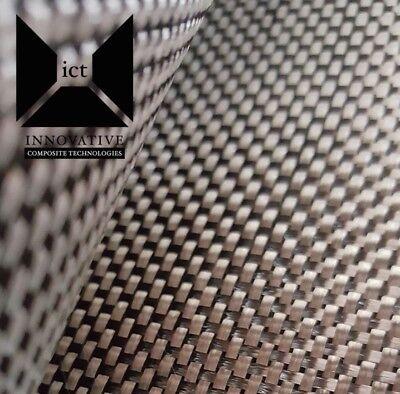 10 Yards Carbon Fiber Fabric Cloth Plain Weave - 5.7 Oz 50 Wide