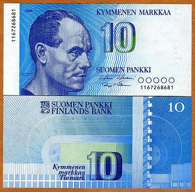 Finland, 10 Markkaa, 1986,  P-113, pre-Euro, UNC