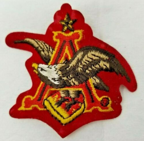 Vintage 1960s Employee Patch Anheuser Busch Brewery Eagle
