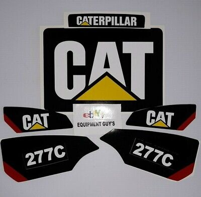 Sticker Set Skid Steer Caterpillar Cat Decal Kit Loader 277c Fast Free Usa Ship