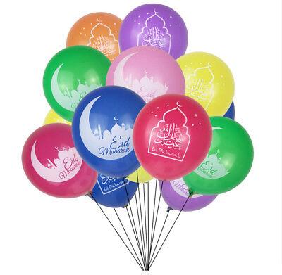 Islamic Happy Eid Mubarak Ramadan Decoration Balloons Multi Color  Free Shipping