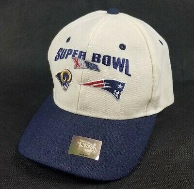 SUPERBOWL XXXVI 36 New England Patriots vs. St. Louis Rams Hat EMBROIDERED NEW