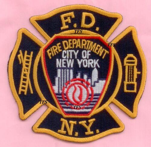 New York City Fire Dept shoulder patch on Maltese Patch