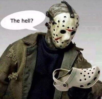 "3"" Sticker Funny Jason Halloween Pun Cool Spooky Shoe Play On Words Hockey"