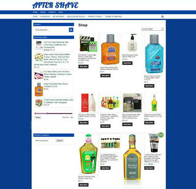 Fully Stocked Aftershave Website Business With 1 Years Hosting New Domain