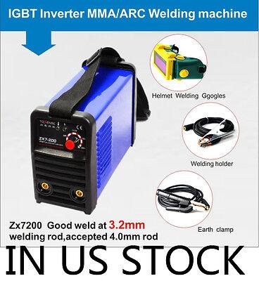 220v Igbt Inverter Arc 200a Welding Machine Welding Helmet Mma Welding Holder