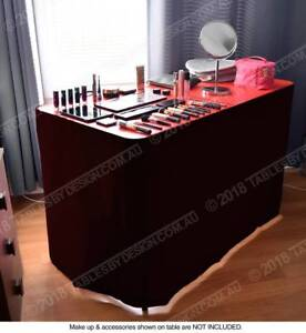 Portable Beautician Table Red Frame Aluminium (120 x 60 x 75cm) Lonsdale Morphett Vale Area Preview