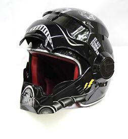 TIE Fighter Black Open face Motorcycle Helmet