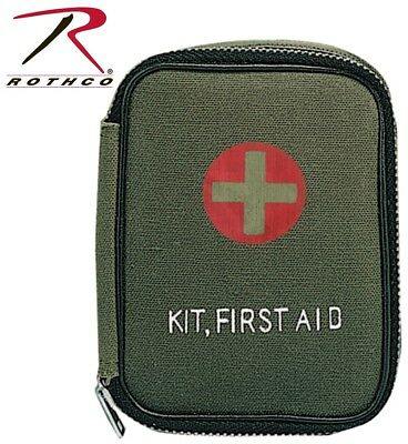 Green First Aid - OD Green Military Style Small Zipper First Aid Kit Pouch Only Rothco 8325