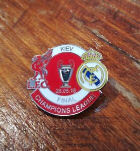 Real Madrid v Liverpool Champions League Final 2018 Match Pin Badge NEW