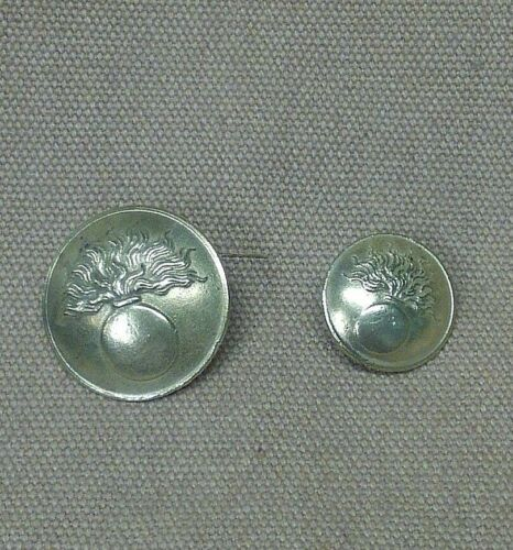 WWI French Button set, unpainted 10 Large and 9 Small Early War Brass variation