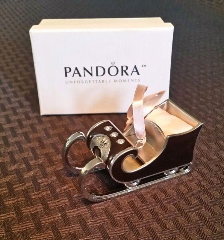 Pandora Santa Sleigh Christmas Ornament 2010 LIMITED EDITION-NOW RETIRED-RARE !