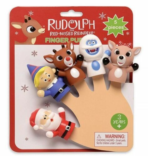 Rudolph the Red Nosed Reindeer Finger Puppets Bumble Santa Clarice Hermey