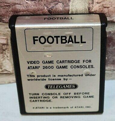 ATARI 2600 - FOOTBALL GAME - CARTRIDGE ONLY Silver Label - Free P&P - Rare