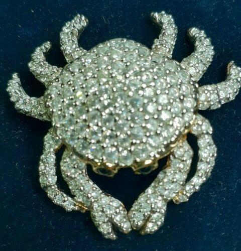 Swarovski Crystal Crab Brooch with Pouch COA
